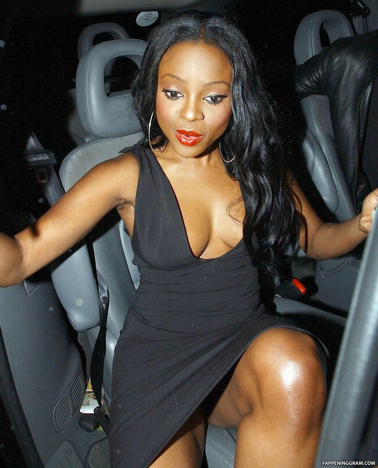 Sugababe amelle flashes boobs through top